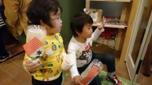 花子くらぶでマラカス&焼き芋