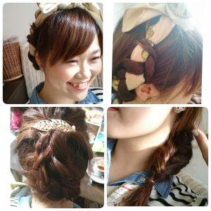 《ヘアアレンジで遊ぶ女子っぽい会》髪の毛で遊んでみよー!