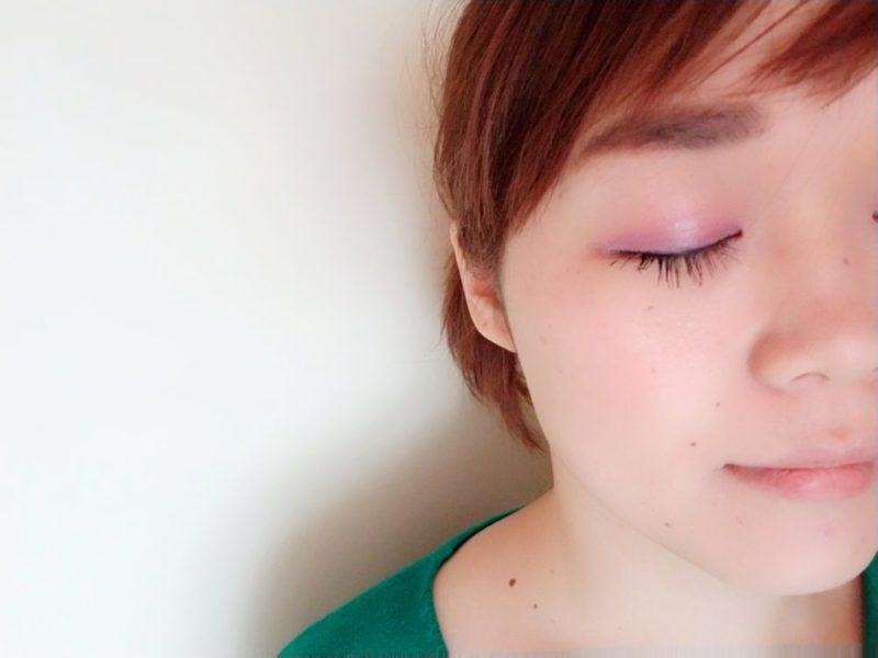 ピンク&パープル アイメイクに挑戦!